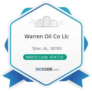 Warren Oil Co Llc - NAICS Code 424710 - Petroleum Bulk Stations and Terminals