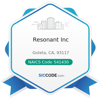Resonant Inc - NAICS Code 541430 - Graphic Design Services