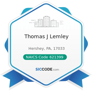Thomas J Lemley - NAICS Code 621399 - Offices of All Other Miscellaneous Health Practitioners
