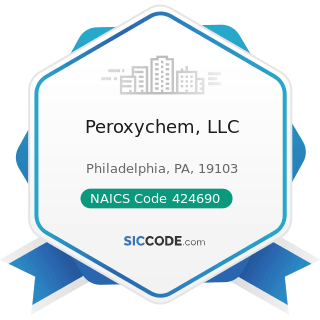 Peroxychem, LLC - NAICS Code 424690 - Other Chemical and Allied Products Merchant Wholesalers
