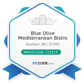 Blue Olive Mediterranean Bistro - NAICS Code 722511 - Full-Service Restaurants