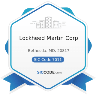 Lockheed Martin Corp - SIC Code 7011 - Hotels and Motels