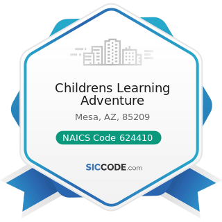 Childrens Learning Adventure - NAICS Code 624410 - Child Day Care Services