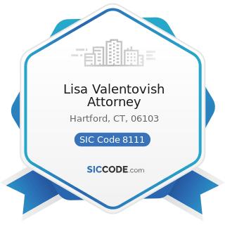 Lisa Valentovish Attorney - SIC Code 8111 - Legal Services