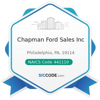 Chapman Ford Sales Inc - NAICS Code 441110 - New Car Dealers
