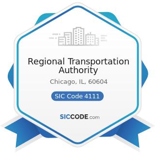 Regional Transportation Authority - SIC Code 4111 - Local and Suburban Transit