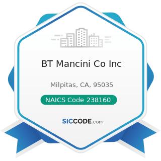 BT Mancini Co Inc - NAICS Code 238160 - Roofing Contractors