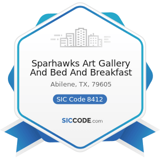 Sparhawks Art Gallery And Bed And Breakfast - SIC Code 8412 - Museums and Art Galleries
