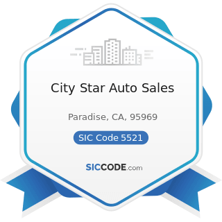 City Star Auto Sales - SIC Code 5521 - Motor Vehicle Dealers (Used Only)