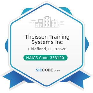 Theissen Training Systems Inc - NAICS Code 333120 - Construction Machinery Manufacturing