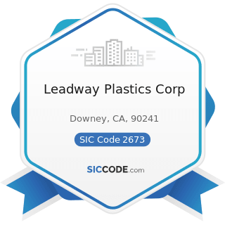 Leadway Plastics Corp - SIC Code 2673 - Plastics, Foil, and Coated Paper Bags