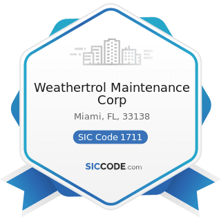 Weathertrol Maintenance Corp - SIC Code 1711 - Plumbing, Heating and Air-Conditioning
