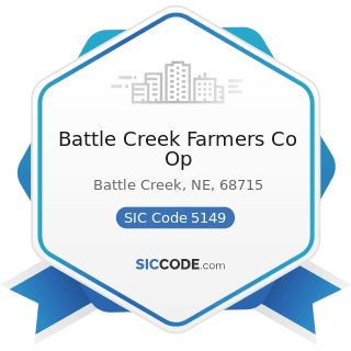 Battle Creek Farmers Co Op - SIC Code 5149 - Groceries and Related Products, Not Elsewhere...