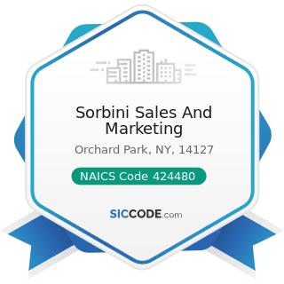 Sorbini Sales And Marketing - NAICS Code 424480 - Fresh Fruit and Vegetable Merchant Wholesalers