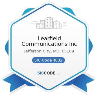 Learfield Communications Inc - SIC Code 4832 - Radio Broadcasting Stations