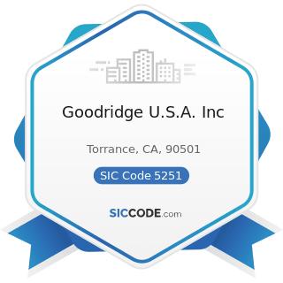 Goodridge U.S.A. Inc - SIC Code 5251 - Hardware Stores