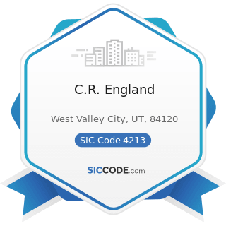 C.R. England - SIC Code 4213 - Trucking, except Local