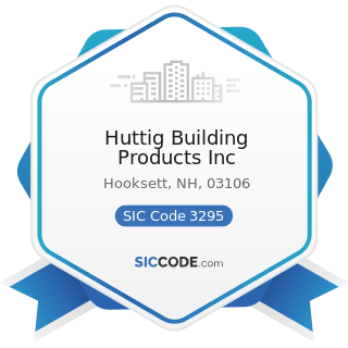Huttig Building Products Inc - SIC Code 3295 - Minerals and Earths, Ground or Otherwise Treated