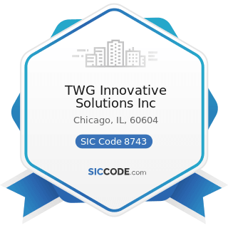 TWG Innovative Solutions Inc - SIC Code 8743 - Public Relations Services