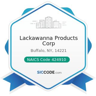 Lackawanna Products Corp - NAICS Code 424910 - Farm Supplies Merchant Wholesalers