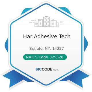 Har Adhesive Tech - NAICS Code 325520 - Adhesive Manufacturing