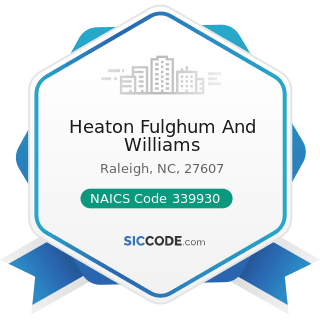 Heaton Fulghum And Williams - NAICS Code 339930 - Doll, Toy, and Game Manufacturing