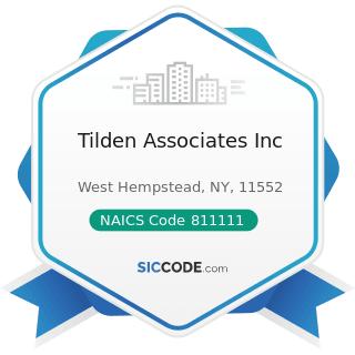 Tilden Associates Inc - NAICS Code 811111 - General Automotive Repair
