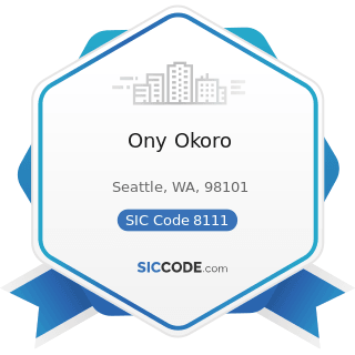 Ony Okoro - SIC Code 8111 - Legal Services