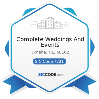 Complete Weddings And Events - SIC Code 7221 - Photographic Studios, Portrait