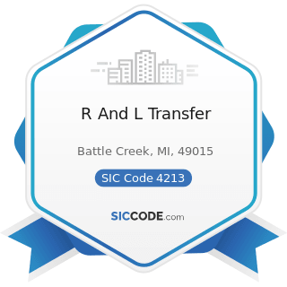 R And L Transfer - SIC Code 4213 - Trucking, except Local