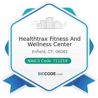 Healthtrax Fitness And Wellness Center - NAICS Code 711219 - Other Spectator Sports