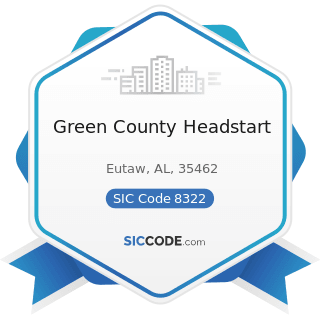 Green County Headstart - SIC Code 8322 - Individual and Family Social Services