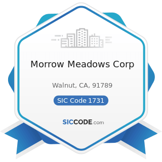 Morrow Meadows Corp - SIC Code 1731 - Electrical Work