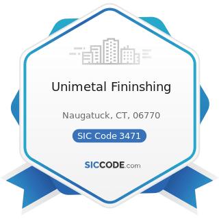 Unimetal Fininshing - SIC Code 3471 - Electroplating, Plating, Polishing, Anodizing, and Coloring