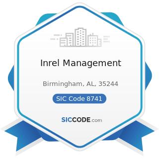 Inrel Management - SIC Code 8741 - Management Services