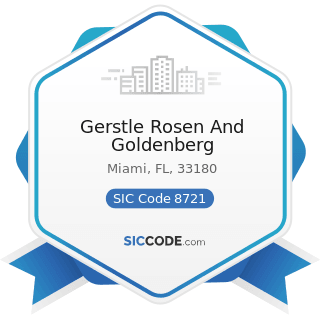 Gerstle Rosen And Goldenberg - SIC Code 8721 - Accounting, Auditing, and Bookkeeping Services