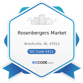 Rosenbergers Market - SIC Code 5411 - Grocery Stores