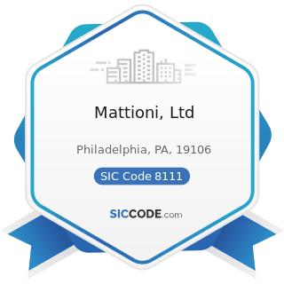 Mattioni, Ltd - SIC Code 8111 - Legal Services