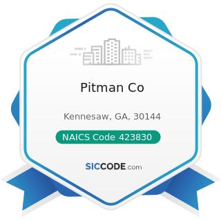 Pitman Co - NAICS Code 423830 - Industrial Machinery and Equipment Merchant Wholesalers
