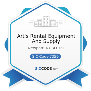 Art's Rental Equipment And Supply - SIC Code 7359 - Equipment Rental and Leasing, Not Elsewhere...