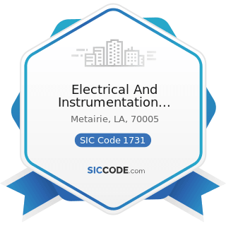 Electrical And Instrumentation Unlimited - SIC Code 1731 - Electrical Work
