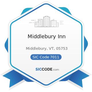 Middlebury Inn - SIC Code 7011 - Hotels and Motels
