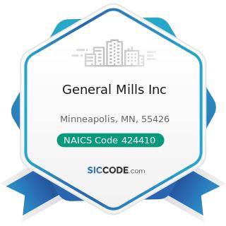 General Mills Inc - NAICS Code 424410 - General Line Grocery Merchant Wholesalers