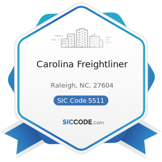 Carolina Freightliner - SIC Code 5511 - Motor Vehicle Dealers (New and Used)