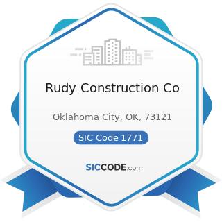 Rudy Construction Co - SIC Code 1771 - Concrete Work