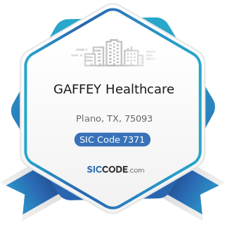 GAFFEY Healthcare - SIC Code 7371 - Computer Programming Services