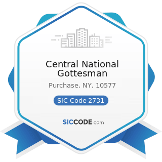 Central National Gottesman - SIC Code 2731 - Books: Publishing, or Publishing and Printing