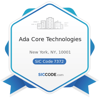 Ada Core Technologies - SIC Code 7372 - Prepackaged Software