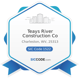 Teays River Construction Co - SIC Code 1522 - General Contractors-Residential Buildings, other...