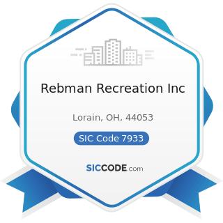 Rebman Recreation Inc - SIC Code 7933 - Bowling Centers